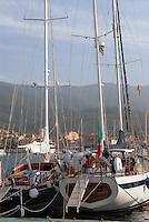 - yachts moored in the tourist harbor of Marciana Marina, Elba island, Sail Club....- yacht ormeggiati nel porto turistico di Marciana Marina, isola d'Elba, Circolo della Vela