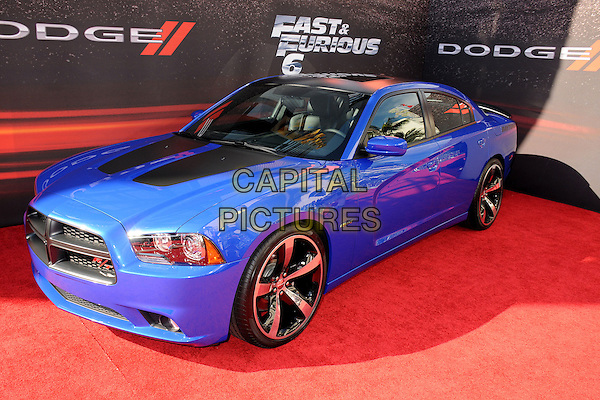 "Car.""Fast & Furious 6"" Los Angeles Premiere held at the Universal Gibson Amphitheatre, Universal City, California, USA..May 21st, 2013.gv general view blue.CAP/ADM/BP.©Byron Purvis/AdMedia/Capital Pictures"