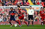 24th March 2018, Anfield, Liverpool, England; LFC Foundation Legends Charity Match 2018, Liverpool Legends versus FC Bayern Legends; Xabi Alonso of Liverpool Legends runs at Ze Roberto of Bayern Munich Legends in midfield