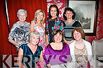 Fiona Bohan, The Spa, Tralee sits between Geraldine O'Mahony and Marie Campbell on the occasion of her birthday in Cassidy's, Tralee last Friday night with back l-r: Mary O'Donovan, Geraldine Gannon, Deirdre Murphy and Jane O'Donoghue.