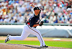 8 March 2011: Atlanta Braves pitcher George Sherrill in action during a Spring Training game against the New York Yankees at Champion Park in Orlando, Florida. The Yankees edged out the Braves 5-4 in Grapefruit League action. Mandatory Credit: Ed Wolfstein Photo