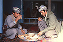 Iran 1979.Peshmergas of KDPI eating in a mosque