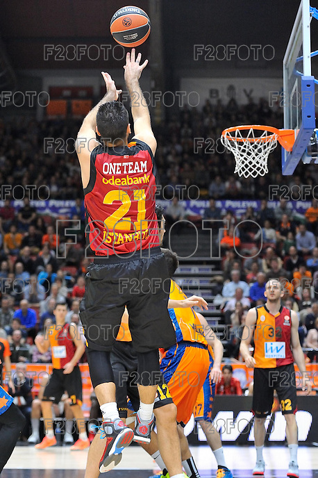 Aradori<br /> Euroleague - 2014/15<br /> Regular season Round 7<br /> Valencia Basket vs Galatasaray