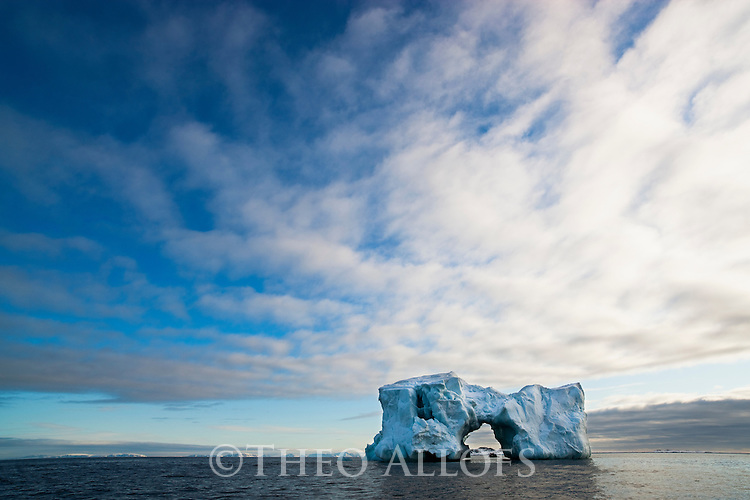 Norway, Svalbard, large iceberg near the Seven Islands