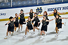 January 25, 2020; The synchronized skating team performs before a hockey game at Compton Family Ice Arena. (Photo by Matt Cashore/University of Notre Dame)