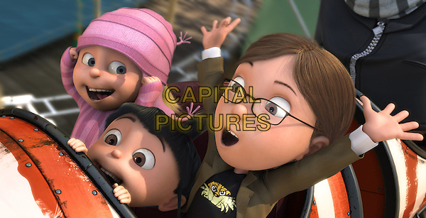 EDITH (voiced by Dana Gaier), AGNES (voiced by Elsie Fisher) & MARGO (voiced by Miranda Cosgrove) .in Despicable Me .*Filmstill - Editorial Use Only*.CAP/FB.Supplied by Capital Pictures.