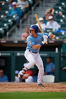 Buffalo Bisons Nash Knight (8) bats during an International League game against the Pawtucket Red Sox on August 25, 2019 at Sahlen Field in Buffalo, New York.  Buffalo defeated Pawtucket 5-4 in 11 innings.  (Mike Janes/Four Seam Images)