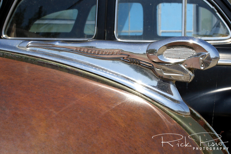 Hood ornament on a 1947 Dodge