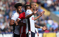 Bolton Wanderers' Derik Osede Prieto Middlesbrough's Adama Traore and Bolton Wanderers' Darren Pratley <br /> <br /> Photographer Rachel Holborn/CameraSport<br /> <br /> The EFL Sky Bet Championship - Bolton Wanderers v Middlesbrough - Saturday 9th September 2017 - Macron Stadium - Bolton<br /> <br /> World Copyright &copy; 2017 CameraSport. All rights reserved. 43 Linden Ave. Countesthorpe. Leicester. England. LE8 5PG - Tel: +44 (0) 116 277 4147 - admin@camerasport.com - www.camerasport.com