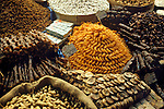 Colorful dried fruits and nuts on display at the Spice Market in Istanbul, Turkey