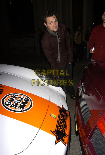 BAM MARGERA (JACKASS).At the Gumball 3000 Rally Launch Party,.Hilton Trafalgar Hotel, London, England, .April 29th 2006..full length car viva la bam.Ref: CAN.www.capitalpictures.com.sales@capitalpictures.com.©Can Nguyen/Capital Pictures