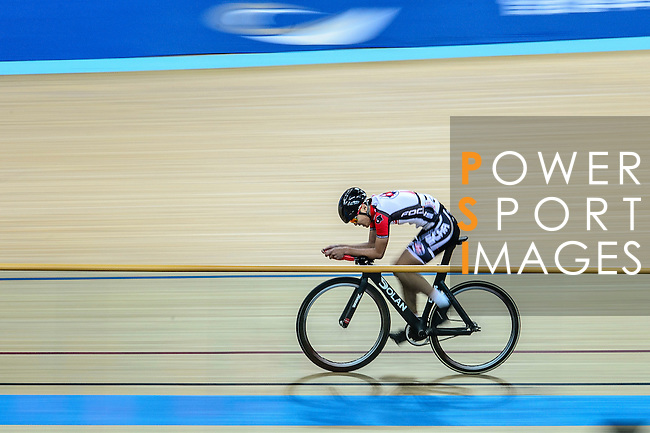 Ng Siu Yin of team SCAA during the Indiviual Pursuit Youth Qualifying (3KM) Track Cycling Race 2016-17 Series 3 at the Hong Kong Velodrome on February 4, 2017 in Hong Kong, China. Photo by Marcio Rodrigo Machado / Power Sport Images