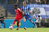 Braydon Manu, Palko Dardai /   /        /      <br /> / Sport / Football / pre season friendly Bundesliga  DFL /  2018/2019 / 15.08.2018 / Hertha BSC Berlin vs. Hscher FC Chemie HFC / DFL regulations prohibit any use of photographs as image sequences and/or quasi-video. /<br />       <br />    <br />  *** Local Caption *** &copy; pixathlon
