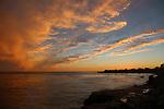 Sunset on West Cliff Drive in Santa Cruz
