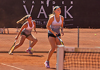 Netherlands, Rotterdam August 08, 2015, Tennis,  National Junior Championships, NJK, TV Victoria, Girls doubles:  Perla Nieuwboer and Gabriella Mujan (L)<br /> Photo: Tennisimages/Henk Koster