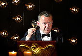Denmark's Prime Minister Lars Lokke Rasmussen raises a glass for a toast to U.S.President Barack Obama and fellow Nordic leaders at a State Dinner, at the White House, May 13, 2016, in Washington, DC.<br /> Credit: Mike Theiler / Pool via CNP