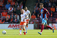 Blackpool's Jay Spearing in action<br /> <br /> Photographer David Shipman/CameraSport<br /> <br /> The EFL Sky Bet League One - Scunthorpe United v Blackpool - Friday 19th April 2019 - Glanford Park - Scunthorpe<br /> <br /> World Copyright © 2019 CameraSport. All rights reserved. 43 Linden Ave. Countesthorpe. Leicester. England. LE8 5PG - Tel: +44 (0) 116 277 4147 - admin@camerasport.com - www.camerasport.com