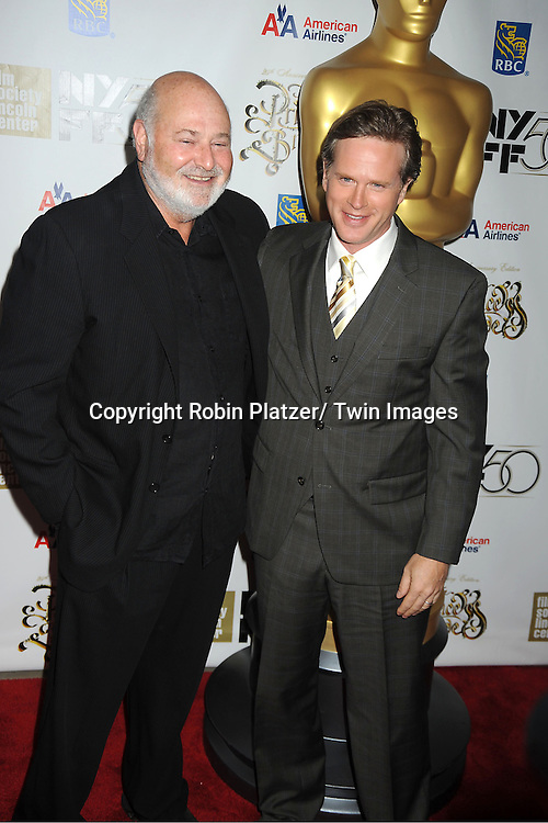 "Rob Reiner and Cary Elwes arrives at ""The Princess Bride""  screening presented by the Film Society of Lincoln Center and the Academy of Motion Pictures Arts and Sciences at the 2012 New York Film Festival on October 2, 2012 at Alice Tully Hall in  New York City. Rob Reiner was the director and the cast included Billy Crystal, Cary Elwes, Caril Kane, Mandy Patinkin, Chris Sarandon and Rboin Wright."