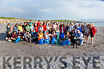 Locals and Students from the ASANA School of English who helped at the Beach Clean up on Friday evening at the White Strand, Cahersiveen.