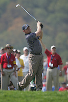 JB Holmes tee shot to the 8th green during the Afternoon Fourball on Day 2 of the Ryder Cup at Valhalla Golf Club, Louisville, Kentucky, USA, 20th September 2008 (Photo by Eoin Clarke/GOLFFILE)