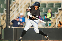 Kannapolis Intimidators shortstop Everth Cabrera (39) at bat against the Asheville Tourists at Kannapolis Intimidators Stadium on May 6, 2017 in Kannapolis, North Carolina.  The Intimidators walked-off the Tourists 7-6.  (Brian Westerholt/Four Seam Images)