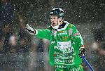 Stockholm 2015-01-06 Bandy Elitserien Hammarby IF - V&auml;ster&aring;s SK :  <br /> Hammarbys Per Einarsson reagerar under matchen mellan Hammarby IF och V&auml;ster&aring;s SK <br /> (Foto: Kenta J&ouml;nsson) Nyckelord:  Elitserien Bandy Zinkensdamms IP Zinkensdamm Zinken Hammarby Bajen HIF V&auml;ster&aring;s VSK arg f&ouml;rbannad ilsk ilsken sur tjurig angry portr&auml;tt portrait