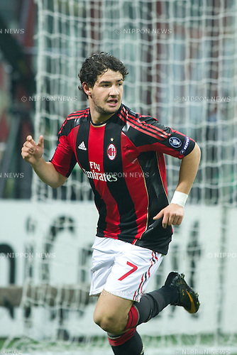 Pato (Milan), FEBRUARY 15, 2011 - Football : UEFA Champions League 2010-2011, Round of 16, 1st leg,  match between AC Milan 0-1 Tottenham Hotspur FC at San Siro Meazza Stadium, Milan, Italy, (Photo by Enrico Calderoni/AFLO SPORT) [0391]