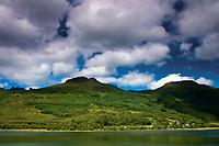 Looking across Loch Long to The Cobbler and Beinn Narnain, Arrochar, Loch Lomond & The Trossachs National Park, Argyll & Bute