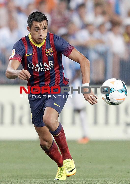 FC Barcelona's Alexis Sanchez during La Liga match.August 25,2013. Foto © nph / Acero)