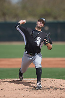 Chicago White Sox starting pitcher Kyle Von Ruden (91) during a Minor League Spring Training game against the Chicago White Sox at Camelback Ranch on March 16, 2018 in Glendale, Arizona. (Zachary Lucy/Four Seam Images)
