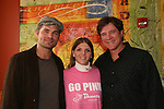"Guiding Light's Daniel Cosgrove ""Billy Lewis"" and Frank Dicopoulos ""Frank Cooper"" poses with a volunteer as Daniel and Frank donated their time for Young Women's Breast Cancer Awareness Foundation by going to Pittsburgh, PA on October 7, 2008 and went Pink with Panera. They visited three of 27 Panera Bread locations during the day where 100% of sales from their Pink Ribbon bagels went to the foundation and a portion of those sales all during the month of October. For more information go to www.breastcancerbenefit.org. The day started out with Star 100.7 and the hosts Kate and JR interviewed Frank Dicopoulos. The two actors then went to the CBS studio in Pittsburgh in the morning. The day was a great hit. (Photo by Sue Coflin/Max Photos)"