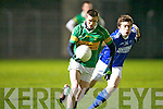 Kerins O'Rahilly's David Moran chases John Mitchels Shane in the John Kissane memorial cup final at Austin Stack park, Tralee on Saturday.