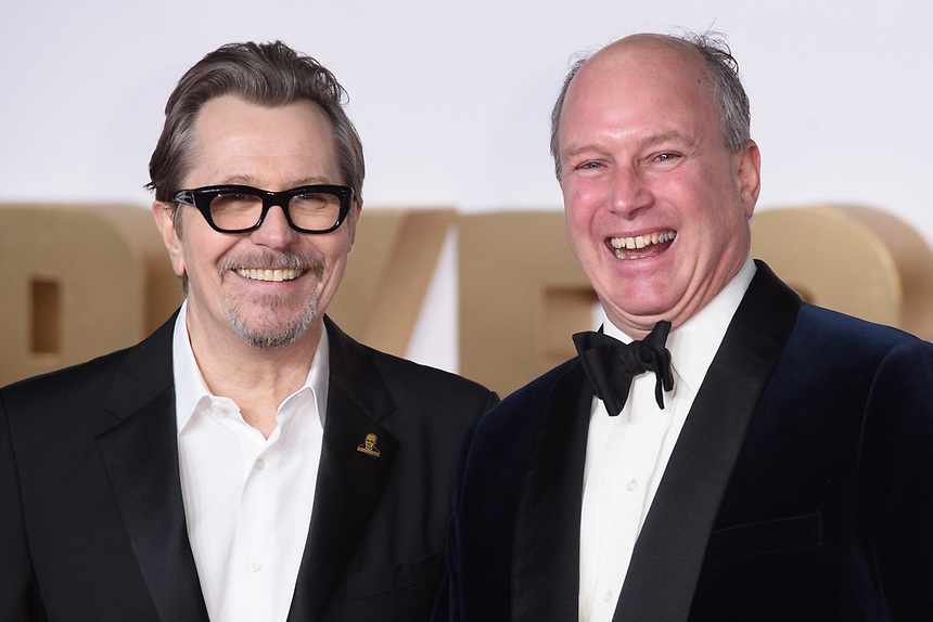 """Gary Oldman and Randolph Spencer Churchill (Churchill's grandson)<br /> arriving for the """"Darkest Hour"""" premiere at the Odeon Leicester Square, London<br /> <br /> <br /> ©Ash Knotek  D3361  11/12/2017"""