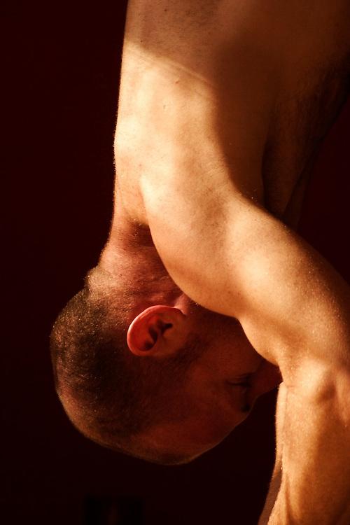 David Keil practicing yoga (ashtanga) in Red Pearl Yoga, Fort Lauderdale, FL.