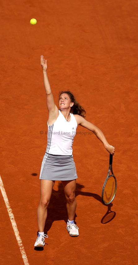 Photo. Jed Wee..French Open Tennis Championships, Roland Garros, Paris, France. 28/05/2003..Patty Schnyder.