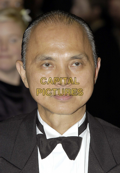 JIMMY CHOO.At The Premiere of Gumball 3000: The Movie, Odeon, Leicester Square.20/11/2003.bow tie, headshot, portrait, shoemaker.www.capitalpictures.com.sales@capitalpictures.com.©Capital Pictures