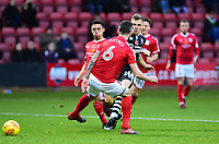 Lincoln City's Harry Anderson scores his sides equalising goal to make the score 1-1<br /> <br /> Photographer Andrew Vaughan/CameraSport<br /> <br /> The EFL Sky Bet League Two - Crewe Alexandra v Lincoln City - Saturday 11th November 2017 - Alexandra Stadium - Crewe<br /> <br /> World Copyright &copy; 2017 CameraSport. All rights reserved. 43 Linden Ave. Countesthorpe. Leicester. England. LE8 5PG - Tel: +44 (0) 116 277 4147 - admin@camerasport.com - www.camerasport.com