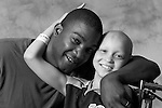 Pediatric patient Jon W is pictured with his father on June 28, 2007, at the UW Children's Hospital in Madison, Wis. The photography session is coordinated by Flashes of Hope, a nonprofit organization dedicated to creating uplifting portraits of children fighting cancer and other life-threatening illnesses.