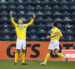 Murray Davidson celebrates his goal for St Johnstone.