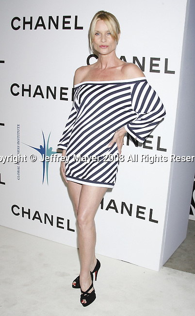 Nicollette Sheridan arrives at Chanel's Launch of Highly Anticipated New Concept Boutique on Robertson Boulevard on May 29, 2008 in Los Angeles, California.