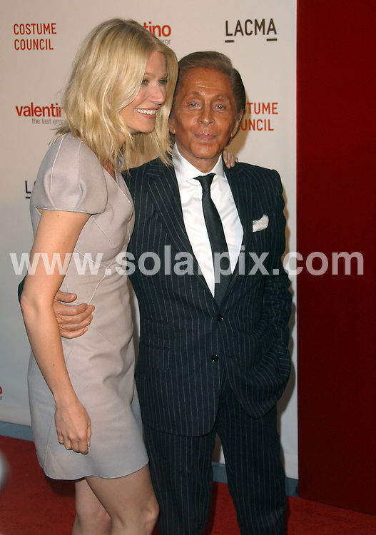 "**ALL ROUND PICTURES FROM SOLARPIX.COM**.**SYNDICATION RIGHTS FOR UK, AUSTRALIA, DENMARK, PORTUGAL, S. AFRICA, SPAIN & DUBAI (U.A.E) ONLY**.LACMA Presents The West Coast Premiere Of ""Valentino: The Last Emperor"". held at the Bing Theater at LACMA, Los Angeles, USA. 1 April 2009..This pic: Gwyneth Paltrow and Valentino Garavani..JOB REF: 8756 PHZ (Ortega)  DATE: 01_04_2009.**MUST CREDIT SOLARPIX.COM OR DOUBLE FEE WILL BE CHARGED**.**ONLINE USAGE FEE GBP 50.00 PER PICTURE - NOTIFICATION OF USAGE TO PHOTO @ SOLARPIX.COM**.**CALL SOLARPIX : +34 952 811 768 or LOW RATE FROM UK 0844 617 7637**"