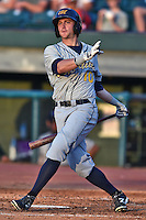 Montgomery Biscuits right fielder Tyler Motter #10 swings at a pitch during the Southern League All Star game at AT&T Field on June 17, 2014 in Chattanooga, Tennessee. The Southern Division defeated the Northern Division 6-4. (Tony Farlow/Four Seam Images)