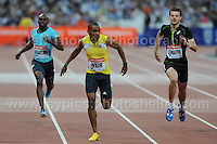 Warren Weir of Jamaica winning the Mens 200m race at the Sainsbury Anniversary Games, Olympic Stadium, London England, Friday 26th July 2013-Copyright owned by Jeff Thomas Photography-www.jaypics.photoshelter.com-07837 386244. No pictures must be copied or downloaded without the authorisation of the copyright owner.