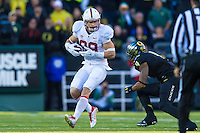 EUGENE, OR - NOVEMBER 1, 2014:  Devon Cajuste during Stanford's game against Oregon. The Ducks defeated the Cardinal 45-16.