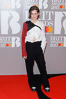 www.acepixs.com<br /> <br /> February 22 2017, London<br /> <br /> Christine and the Queens arriving at The BRIT Awards 2017 at The O2 Arena on February 22, 2017 in London, England.<br /> <br /> By Line: Famous/ACE Pictures<br /> <br /> <br /> ACE Pictures Inc<br /> Tel: 6467670430<br /> Email: info@acepixs.com<br /> www.acepixs.com