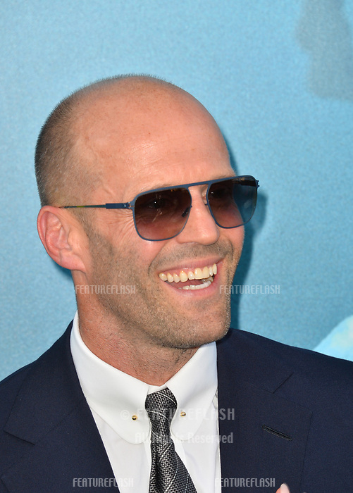 """LOS ANGELES, CA - August 06, 2018: Jason Statham at the US premiere of """"The Meg"""" at the TCL Chinese Theatre"""