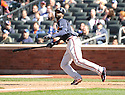 JASON HEYWARD, of the Atlanta Braves, in action during the Braves game against the New York Mets on April 7, 2012 at Citi Field in Corona, NY. The Mets beat the Braves 4-2.