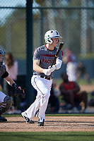 Dalton Beck during the Under Armour All-America Pre-Season Tournament, powered by Baseball Factory, on January 19, 2019 at Fitch Park in Mesa, Arizona.  Dalton Beck is a left handed pitcher / outfielder from Frisco, Texas who attends Reedy High School.  (Mike Janes/Four Seam Images)