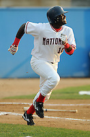 June 21, 2008: Leonard Davis of the Potomac Nationals, Carolina League affiliate of the Washington Nationals, in a game against the Frederick Keys at G. Richard Pfitzner Stadium in Woodbridge, Va. Photo by:  Tom Priddy/Four Seam Images