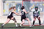 Santa Barbara, CA 02/18/12 - Avi Feldman  (Cal Poly SLO #17), Alexa Jellison (Colorado #27) and Kelly Harris  (Cal Poly SLO #24) in action during the 2012 Santa Barbara Shootout.  Colorado defeated Cal Poly SLO 8-7.